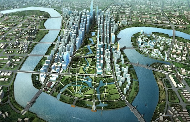 """Mega Theater for """"Manhattan of China"""""""