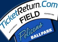 Naming Rights: TicketReturn.com Field at Pelicans Ballpark
