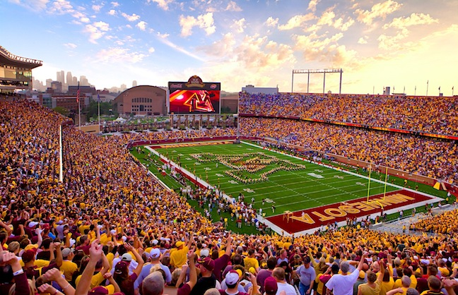 TCF Bank Stadium Preparing for NFL Football