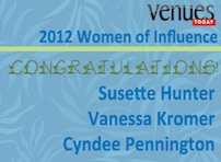 Congratulations to Cyndee, Susette and Vanessa, 2012 VT Women of Influence