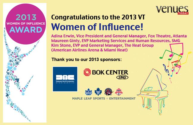 Congratulations 2013 Women of Influence!