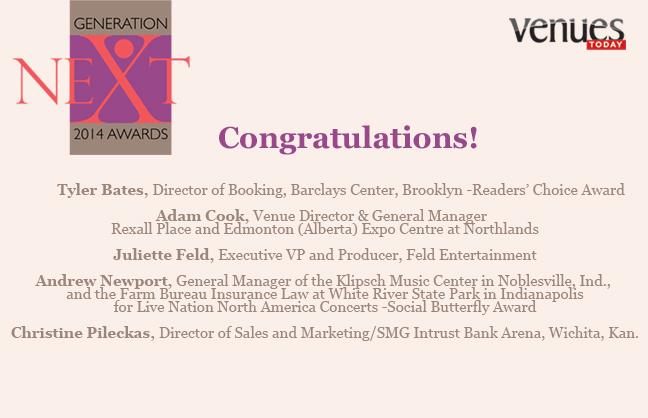 Congratulations 2014 Generation Next Winners!