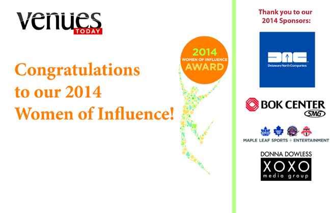Congratulations 2014 Women of Influence!