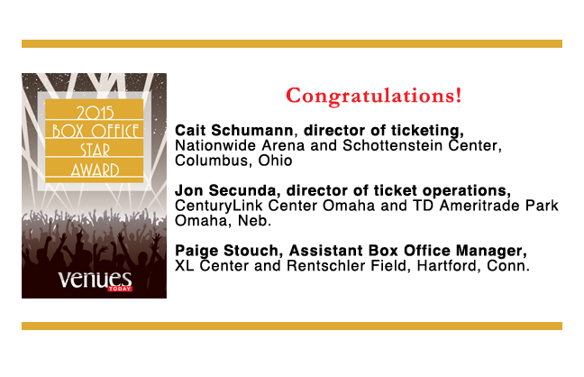 Congratulations 2015 Box Office Stars winners!