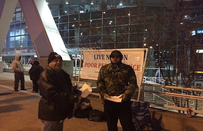 Stagehands Protest in Atlanta