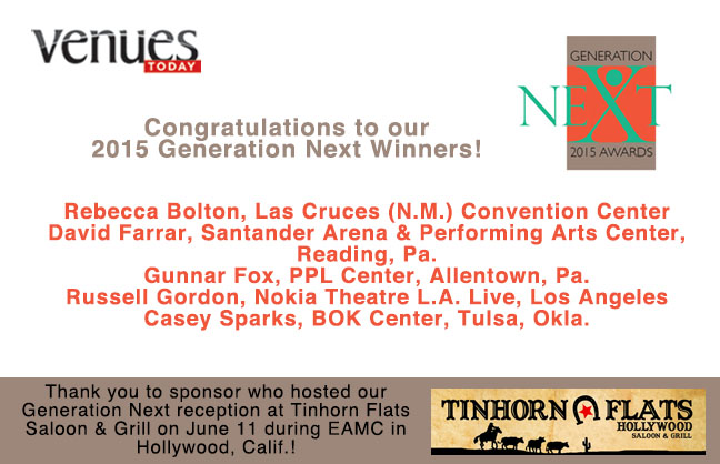 Congratulations 2015 Generation Next Winners!