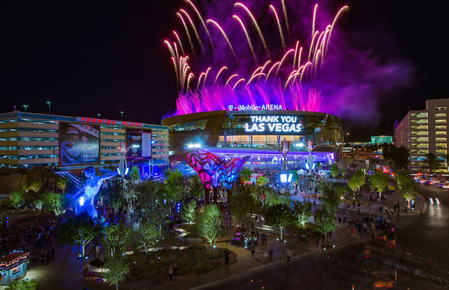 T-Mobile Arena Opens with a Bang