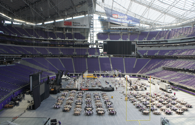 U.S. Bank Stadium Wows the Crowd