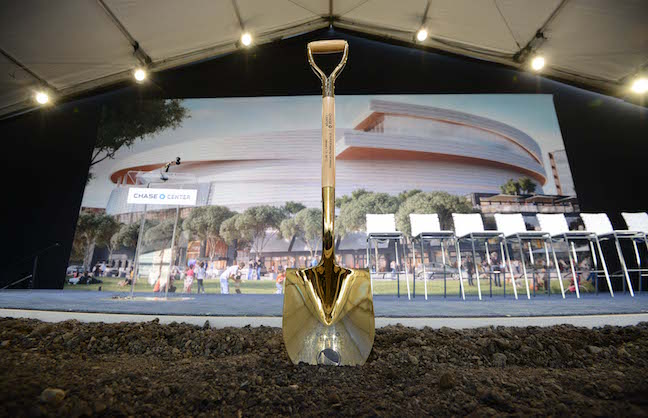 Warriors Break Ground On Chase Center