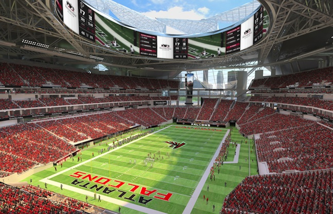 Atlanta Falcons Plan Videoboard Dominance