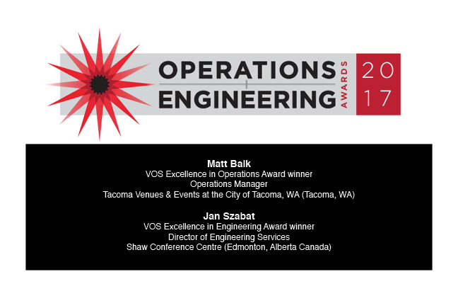 Congratulations 2017 Excellence in Operations & Engineering Award recipients!