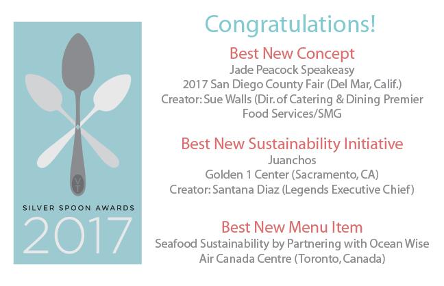 Congratulations 2017 Silver Spoon Award recipients!