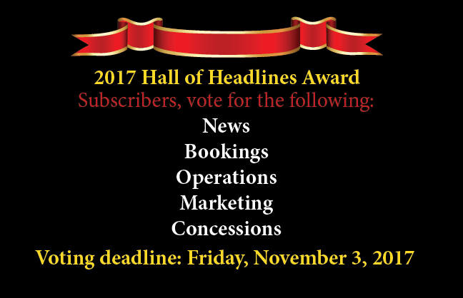 Vote for the 2017 Hall of Headlines Awards by Nov. 3