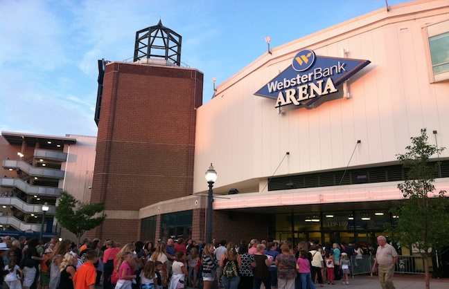 Webster Bank Arena and Mohegan Sun Partner