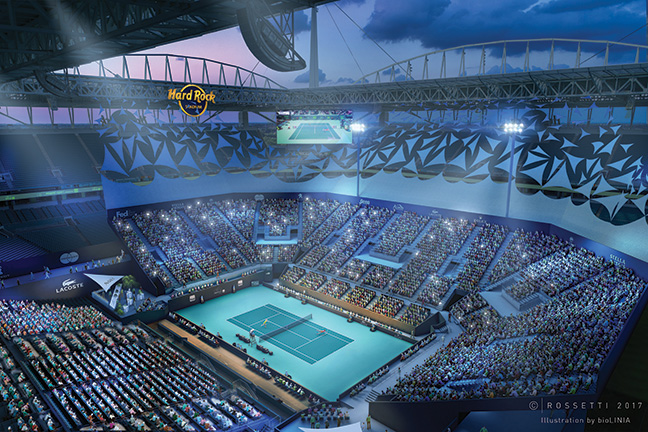 PORTABLE SUITES WILL FIT TENNIS AT DOLPHINS' HOME