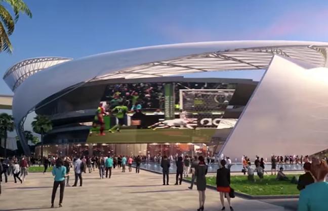 HOK, Arquitectonica Get Soccer Job