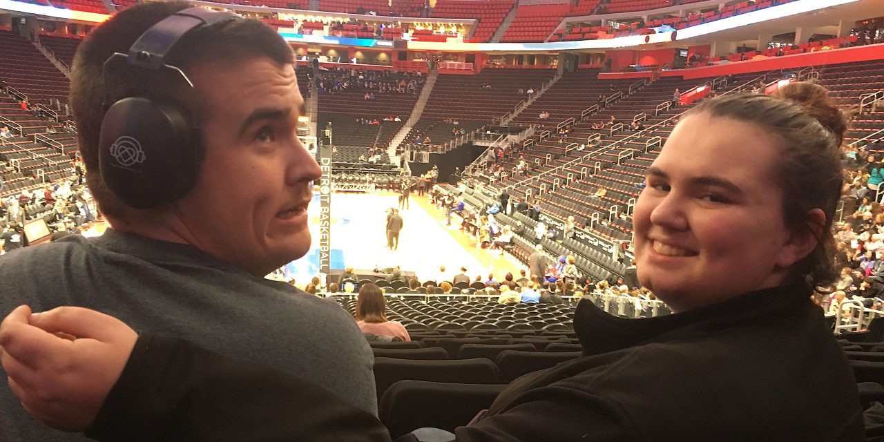 Autistic Teen Feels Included at Pistons Game