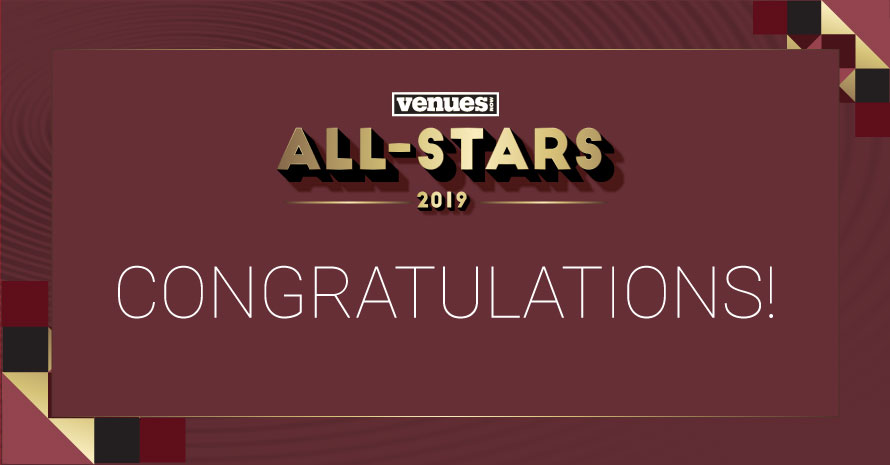 Congratulations 2019 VenuesNow All-Star honorees!