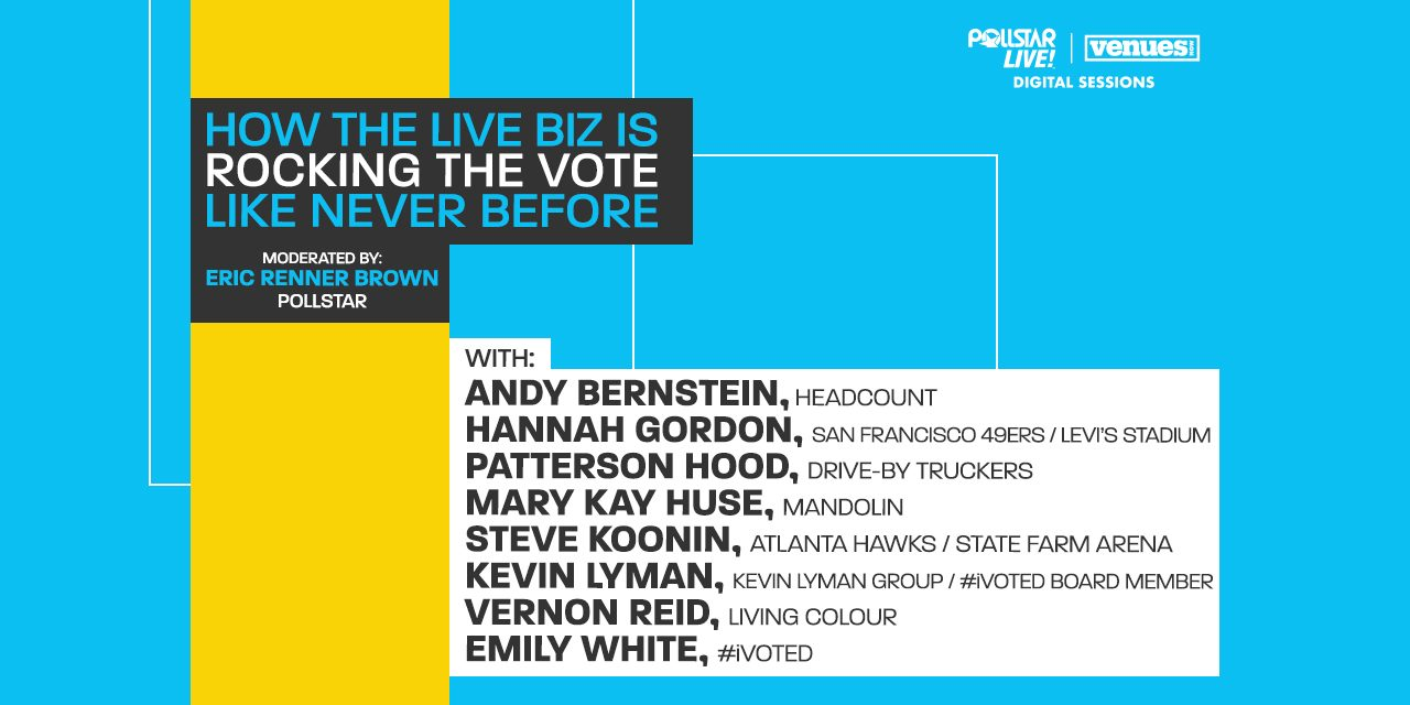 Video Interview: How the Live Biz is Rocking the Vote Like Never Before