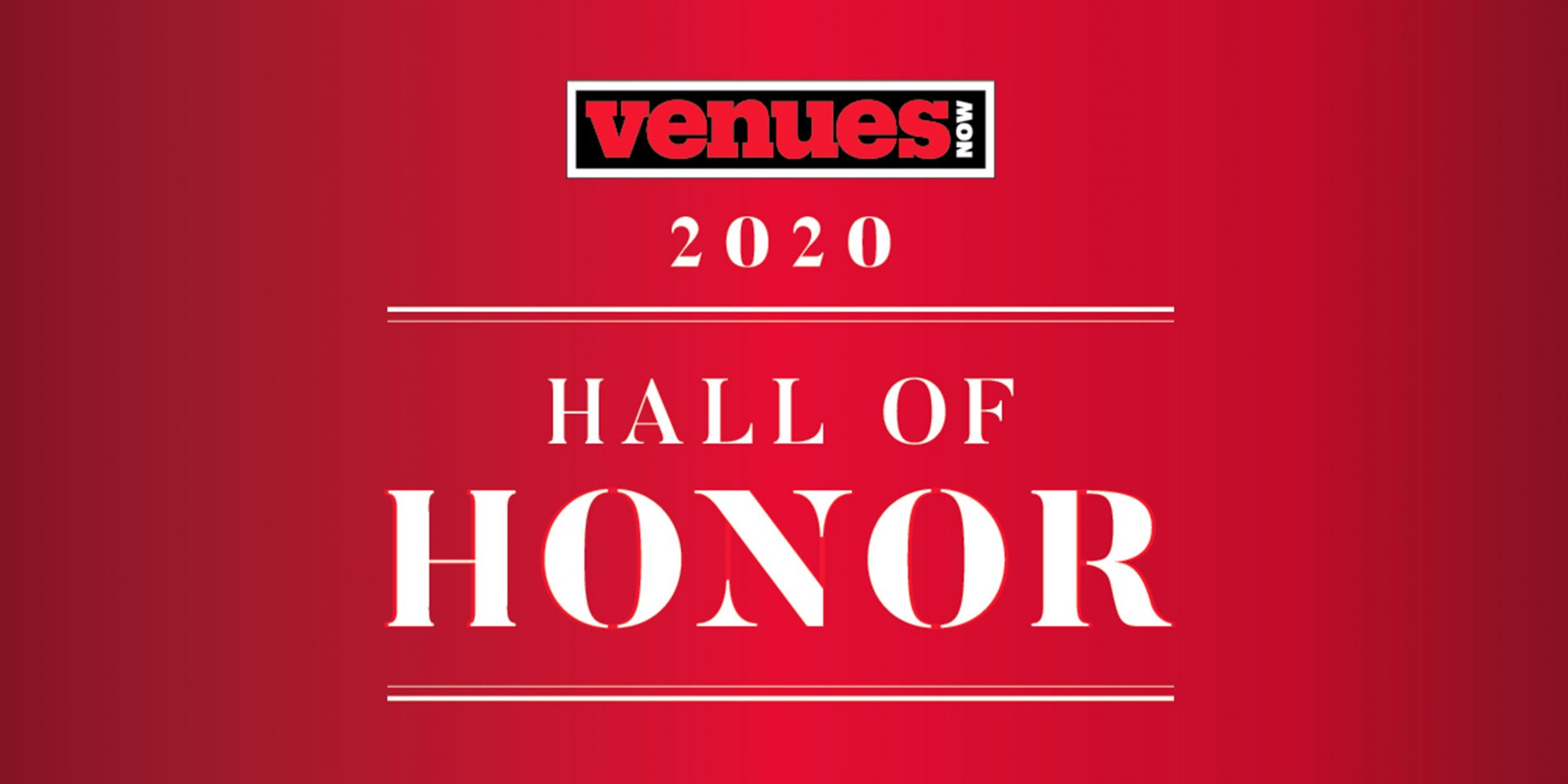 VenuesNow Hall of Honor 2020